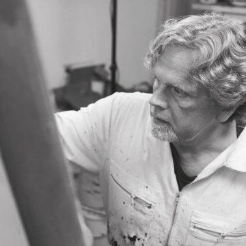 Martin Sieverding im Atelier in Duisburg Homberg 2015
