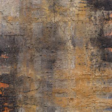 No. 48 / 06.2015 / Acryl, Pigmente, Steinmehl, Kohle, Asche und Pappe auf Leinwand / 120 x 100 cm