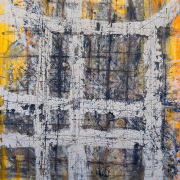 No. 39 / 04.2015 / Acryl, Steinmehl und Bitumen auf Leinwand / 100 x 80 cm