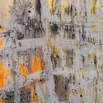 No. 38 / 04.2015 / Acryl, Steinmehl und Bitumen auf Leinwand / 100 x 80 cm