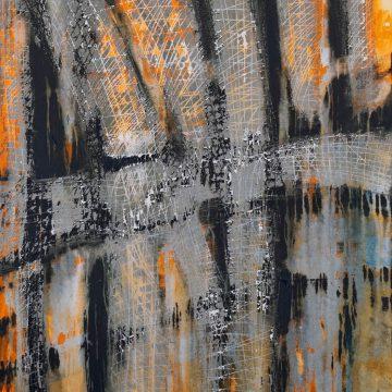 No. 22 / 05.2014 / Acryl und Steinmehl auf Leinwand / 100 x 80 cm