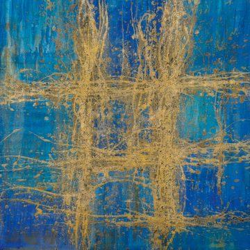 No. 47 / 06.2015 / Acryl, Pigmente und Kohle auf Leinwand / 100 x 100 cm