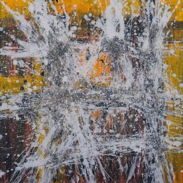 No. 42 / 04.2015 / Acryl, Steinmehl und Bitumen auf Leinwand / 80 x 80 cm