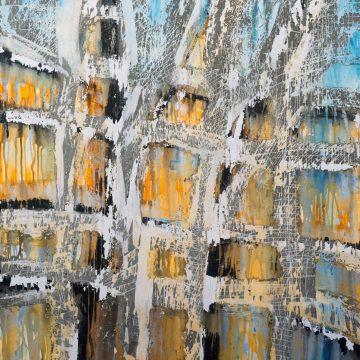 No. 23 / 05.2014 / Acryl und Steinmehl auf Leinwand / 120 x 100 cm