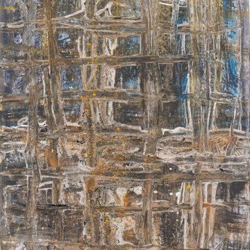 No. 43 / 04.2015 / Acryl, Pigmente, Kohle und Steinmehl auf Papier / 64 x 50 cm
