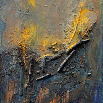 No. 4 / 11.2012 / Acryl, Pigmente und Holz auf Leinwand / 90 x 60 cm