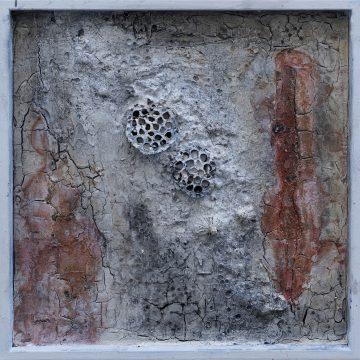 No. 107 / 10.2017 / Acryl, mixed media / 60 x 60 x 3,5 cm