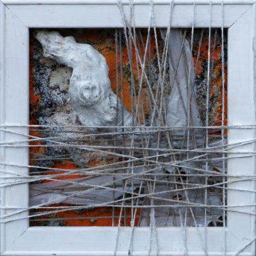 No. 110 / 10.2017 / Acryl, mixed media / 40 x 40 x 8 cm