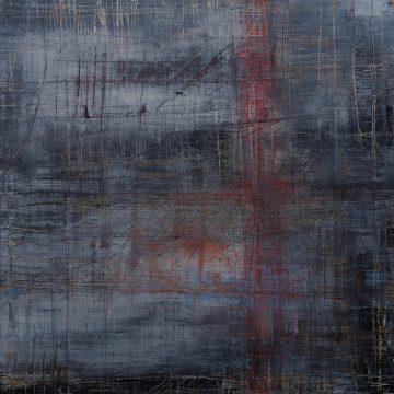 No. 111 / 11.2017 / Öl, cold wax / 100 x 100 cm