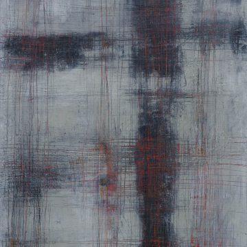 No. 114 / 12.2017 / Öl, cold wax / 100 x 70 cm