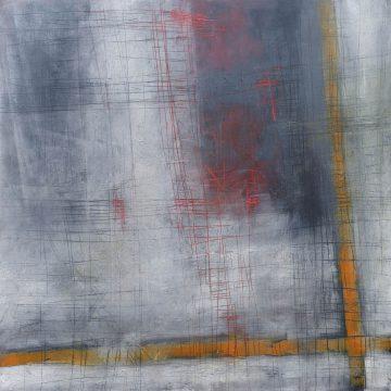 No. 115 / 01.2018 / Öl, cold wax / 120 x 120 cm