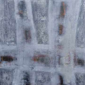 No. 117 / 02,2018 / Öl, cold wax / 120 x 120 cm